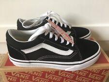 New Vans Youth Kids Old Skool Black True White Skate Shoes Boys Girls Size 2