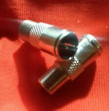 F-type Quick Fit Connector (2) Male Plug To Female Adapter Push On Coaxial. USA