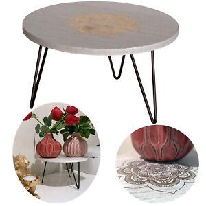 Holz Beistelltisch 21cm Mini Couch-Tisch Tablett Blumenständer Pflanzenhocker