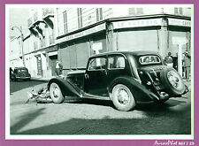 PHOTO DE POLICE CONSTAT ACCIDENT VÉHICULES ANCIENS, TRACTION CITROËN,1955 -J29