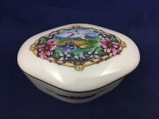 Heritage House Celebration of Love Porcelain Music Box Flowers & Doves Design