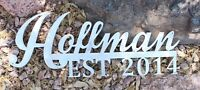 Personalized/Custom Name and Established Date 5 Letter & Silver