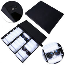 18 Slot Eyeglass Sunglasses Glasses Storage Display Grid Stand Case Box Holder
