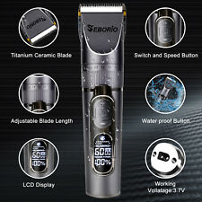 Hair Clippers Trimmer Shaving Machine Cutting Beard Cordless Barber Professional