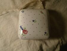 """Laura Ashley Vintage Rose Flowered Ceramic Square Dish With Lid 5"""" x 5"""" x 1.75"""""""