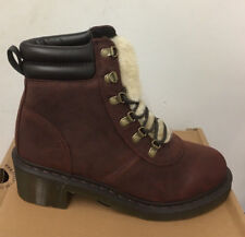 DR. MARTENS SYLVIA BROWN UPFRONT    LEATHER  BOOTS SIZE UK 9