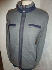 MENS HUGO BOSS BLACK GREY PACENTRO 02 80'S CASUALS TRACK JACKET ZIP CARDIGAN L