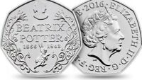 Rare Beatrix Potter Anniversary Coin 50p fifty pence uncirculated