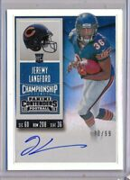 JEREMY LANGFORD 2015 Contenders RPS Championship Rookie Ticket AUTO /99 Bears RC