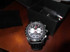 Jacques lemans automatic watch tachymeter with box f 5018 chronograph works good