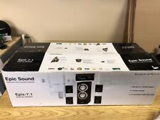 Epic Sound Epic 7.1 Main / Stereo Speakers 6 Speakers Total Epic-7.1 Brand New!