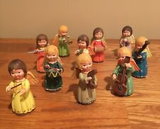 "Anri ""Angelic Orchestra"" ~10 Wooden Figurines~ HandCrafted & HandPainted ~ Italy"