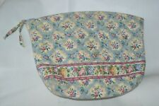 Vera Bradley Large Cosmetic Bag Travel Tool Makeup Case in Pastel Blue Retired