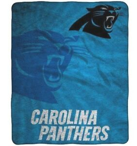 "Carolina Panthers 50"" x 60"" Sherpa Super Soft Blanket by Northwest"