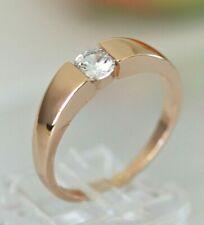 Zirkon Diamant-Brillant-Imitat Herren Damen Ring RotGold 10K GP(375) Gr 64 Ø20,3