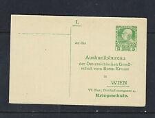 Austria Red Cross WWI WW1 Postal Card