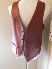 Vintage Remy Leather Vest 42  cognac made in the USA Super Soft