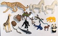 Vintage Animals Great Condition Kids Toy Lot Horses Sharks Turtle Monkey