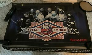 NY ISLANDERS Core of the 4 25th Anniv. Poster SHARP giveaway 36 x 24 PLASTIC
