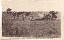 mourmelon l'artillerie en manoeuvres ,batterie de 155 court