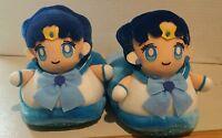 VINTAGE  OFFICIAL SAILOR MOON Mercury Plush Doll Slippers  BANPRESTO 1994
