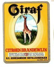Netherlands - Label - Schiedamsche Distilleerderijen - Giraf Citroen Brandewijn