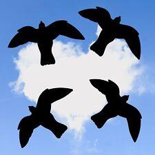 4x Vogel Aufkleber 40cm, Fensteraufkleber, Warnvögel, Vogelschutz Sticker V5