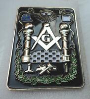 ZPS Masonic Masons LARGE badge with G Geometry Freemason Square Compass Tools