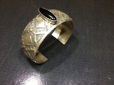 Sterling Silver &Onyx Cuff Bracelet By Jr(Navajo Artist Jerry Roan maybe?)38.5gr