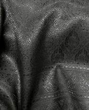 BLACK THAI SILK DAMASK FABRIC for WEDDING DRESS SKIRT TABLECLOTH BLOUSE