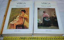 VERGA Giovanni - TUTTE LE NOVELLE 2 voll - Fratelli Melita - libri usati