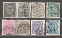 Portugal - Mail 1882-87 Yvert 55/61 Or