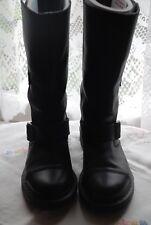 Dr Martens Black Leather Biker Style Boots BNWOB Size UK 5 EU 38 US 7