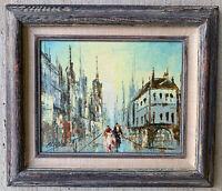 Original ALANS Oil Painting  Signed  Cityscape Paris