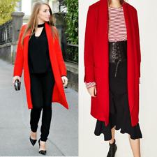 Zara BNWT Red Wool Cardigan Coat Size S Free P&P RRP £69