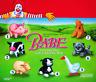 McDonald's Babe 1996 Complete MIP Set of 7 Happy Meal Plush Toys + a Bonus Bag