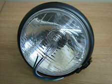 "5 3/4"" Black Head Light B/M for Harley Custom Bobber Chopper Trike Cycle Haven"