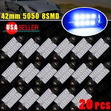 20 X Ultra Blue LED Map/Dome Interior Light Bulbs 42MM Festoon 578 569 2015 New