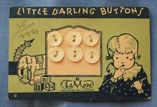 8148 Antique La Mode Little Darlings mother of pearl shell button card, baby gra
