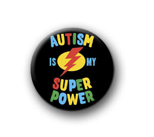 """AUTISM / 1"""" / 25mm pin button / badge / hidden disability / be patient / kind"""