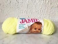 Vintage Lion Brand Jamie Baby Pompadour Acrylic Yarn - 1 Skein Pastel Yellow 257
