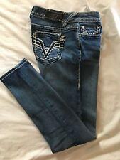 (*-*) VIGOSS * Womens THE DUBLIN SKINNY Blue Jeans / Denim * Juniors Size 9 / 10