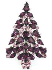 Rhinestone Alloy Amethyst Costume Jewellery