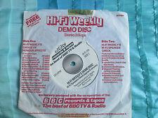 Hi-Fi Weekly's Demo Disc BBC Records – HI-FI 001 UK Vinyl 7 inch Single 45 EP