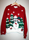 Toddler Girls CROFT & Barrow Red Snowman Knit Ugly Christmas Sweater 6