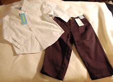 Dress Outfit Boys Sz 3 Dress Buttondown and Navy Pants Nwt Gymboree Church