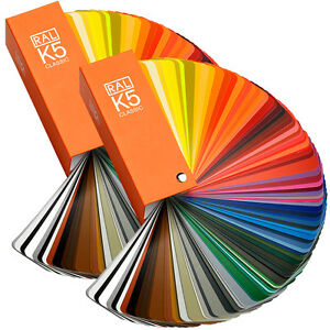 RAL K5 Classic 2 guide set - Latest Edition shows all Classic colours