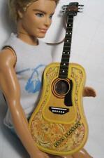 "NEW Barbie/KEN/Liv music Guitar for 11.5"" Fashion Dolls says Elvis Presley on it"