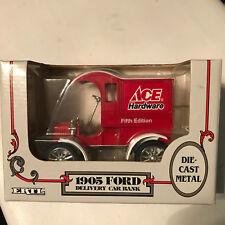 ERTL, ACE Hardware 1905 Ford Delivery Car Coin Bank 1:25 Scale, Diecast NIB