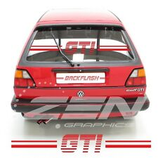VW Golf MK2 Rétro transfert de poison verre autocollants stickers 16 V Syncro toute couleur GTI